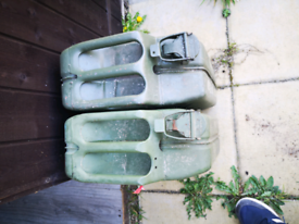 2 petrol Jerry cans