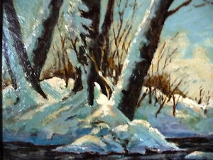 """Early Spring Landscape by T. Callaghan """"Spring Patterns"""", 1960's Stratford Kitchener Area image 10"""
