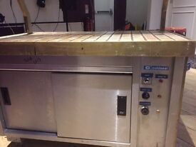 Cold Seal hot cupboard carvery unit. Heated double cupboard, heated tiled top and hot lamps.