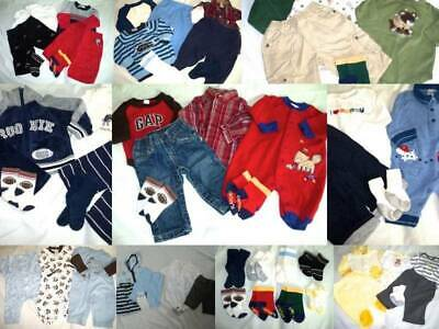 Huge 43 pc Fall Winter Baby Boys Clothes Lot 0-6 mo Childrens Place Gymboree