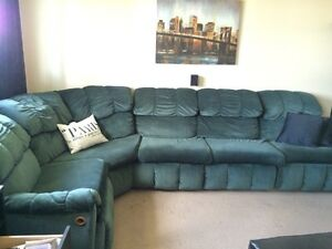 5 piece sectional sofa (with 2 recliners) $800 OBO