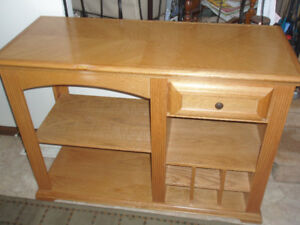 FIRST $275/BUFFET SERVER TABLE/WINE RACK CABINET STORAGE ~