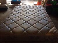 Double mattress set and frame