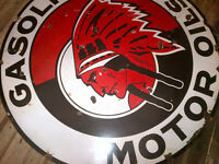 Red Indian Oil Sign!