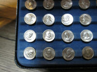 Franklin Mint Sterling Silver 36 Coin Presidents of USA Set