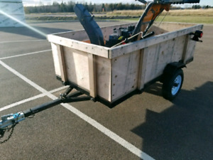 Utility trailer registered and inspected