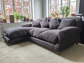 Loaf crumpet chaise sofa L couch