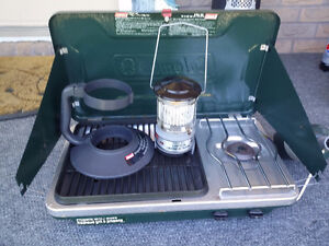 Coleman Camp Stove / Grill and ( Lantern + Support )