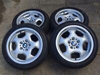 "Bmw RARE e36 3 series contour 17"" alloys wheels , Deep dish m3 evo"