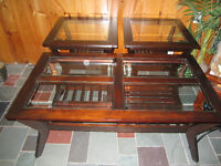 Three Piece Matching Coffee Table Set