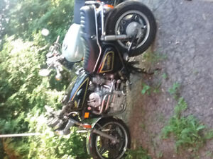 1982 honda cx 500 may trade for vintage audio,tent trailer