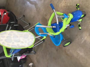 Kids green and blue 3 in 1 trike