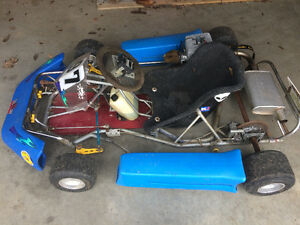 Racing go cart with custom trailer - runs great and fast