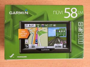 "Garmin nuvi 58LM  5"" Portable GPS with  Free Lifetime Maps."