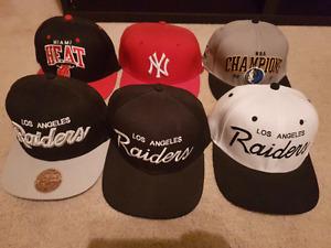 6 Snapback Mitchell&Ness Caps