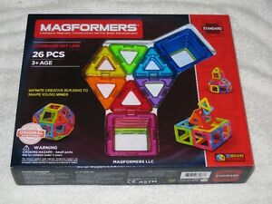 MAGFORMERS (26PC) - MAGNETIC CONSTRUCTION SET - BRANDNEW!