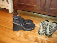 Studded Wedge Sandals, And Converse Sneakers Size 10 -11 women