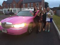 Limo/Pink limousine hire