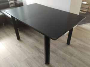 Black Solid Wood Dining Table (No Chairs)