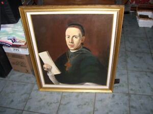 Stunning Art Painting Church Priest Missionary Father Rev.