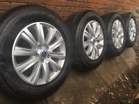 "4x Brand New 18"" Genuine VW Amarok alloy wheels +new Pirelli tyres Transporter T5 highline"