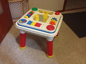 Fisher Price Toy Table with shapes and colours