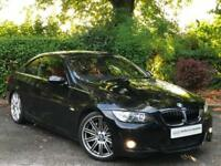 2007 Black BMW 335i M Sport Coupe Manual E92 2 Door 3.0 Petrol - Red Leather