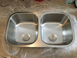 Brand New Double stainless steel under mount sink