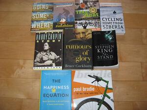Livres voyages vélo, Brodie, Bruce Cockburn, Stephen King