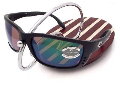 NEW Costa Del Mar ZANE Black / Green Mirror 580 Glass (Costa Del Mar Zane Sunglasses)