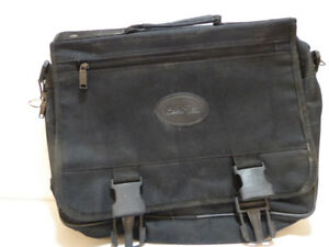 BLACK CANVAS BRIEFCASE BY BUGATTI - NEVER USED