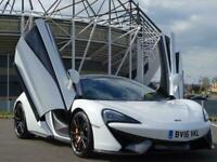 2016 MCLAREN 570S COUPE 3.8 V8 PADDLE SHIFT WHITE ONLY 6K MILES AMAZING SUPERCAR