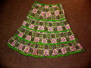 Really nice patterned skirt,layered cotton,perfect for spring!