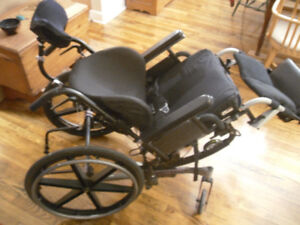 Quickie IRIS wheelchair and accessories