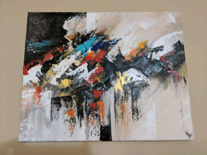 Abstract Art,Acrylic Painting 16X20 Inches