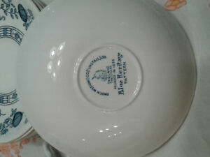 Blue onion collector dishes