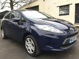 2009 09 Ford Fiesta 1.25 (82) Style 5 Door Blazer Blue **6 Service Stamps**