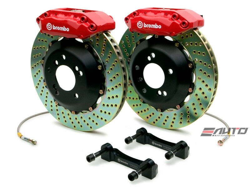 Brembo Front Gt Brake Bbk 4 Piston Red 313x28 Drill Integra 90-01 4x100 Da Dc