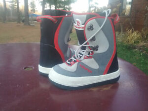 Four Pair of  Snowboard  Boots: Sizes W-4, 9, 8 1/2 and M-11 1/2