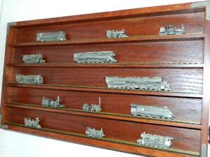 FRANKLIN MINT LOCOMOTIVE PEWTER TRAIN COLLECTION