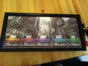 Tableau Taxis NYC Holographique