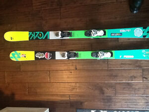 Volkl twin tip skis and bindings, 148 for sale