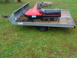 snowmobile trailer and yamaha bravo