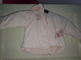Baby girls pink jacket age 6 months