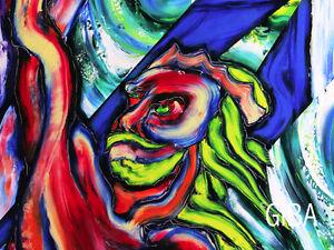 Clovis, 1994 - Peinture originale à l'huile par Giba