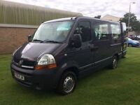 Renault master 2.5 diesel minibus wheelchair access 5 seater 56 reg low mileage finance available