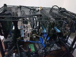 ETH, Crypto GPU Mining Rigs RX580 8gb/ GTX 1070ti and 1080ti