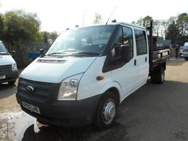 2012 FORD TRANSIT T350 DRW 100 6 SPEED STEEL BODY DOUBLE CAB TIPPER TIPPER DIESE