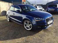 Audi A1 1.6TDI ( 105ps ) 5 door Sportback 2013 S Line 1 owner 29,000 miles