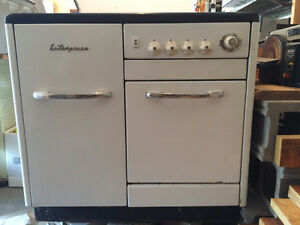 antique / vintage enterprise wood electric stove combo